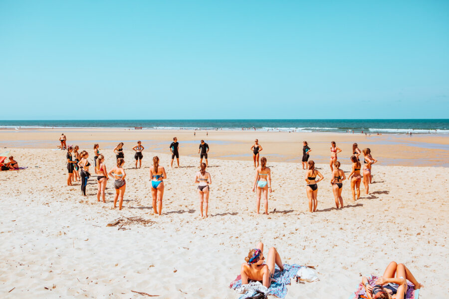 A Day in the Life of... Our Moliets Surf & Yoga Camp - Surf Lesson Warm Up