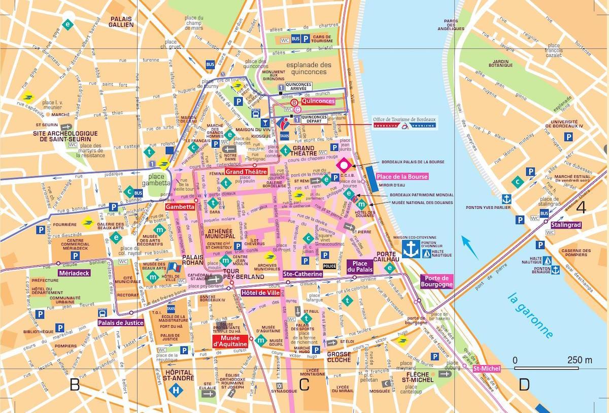 Blog | Bordeau City Break | Map