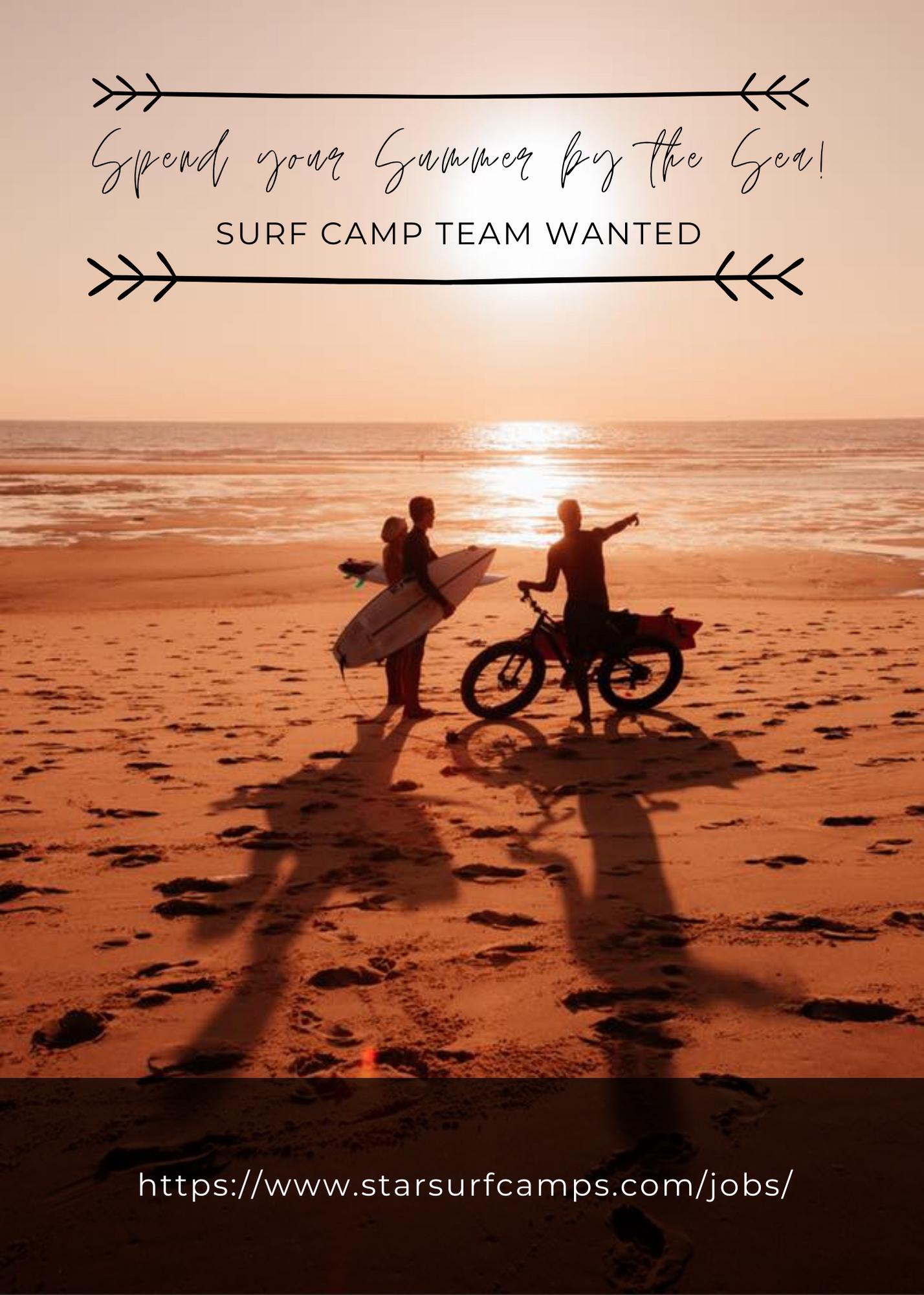 Surf Camps Jobs Advert 2021