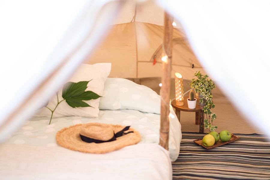 Summer 2019 | Santander Surf Camp Spain | 900x600 Tent with Bedding